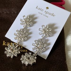 KATE SPADE CRYSTAL GARDEN DROP EARRINGS